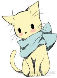картинки милых анимешных животных 022