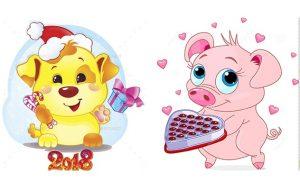 картинки мультяшные на новый год 024