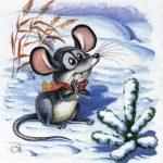 Картинки новый год мыши — милые