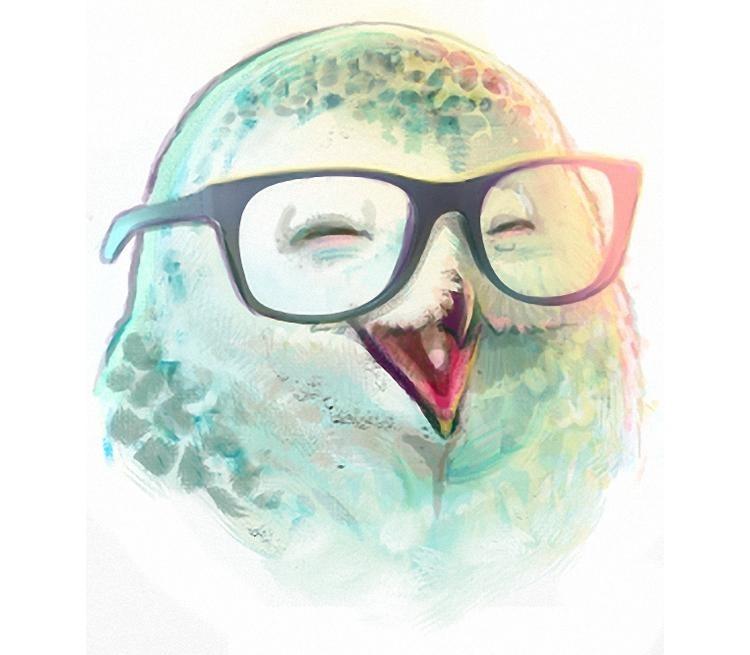 картинки сова в очках и шапке спорный вариант, так