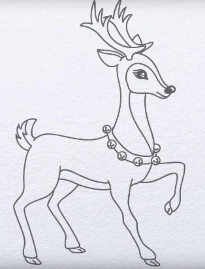 картинки с оленями для срисовки 001