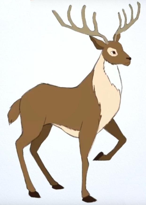 картинки с оленями для срисовки 004