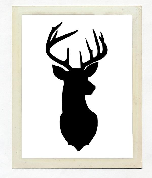 картинки с оленями для срисовки 007