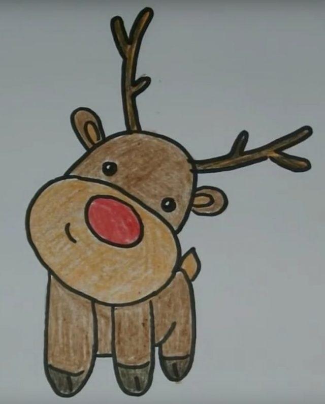 картинки с оленями для срисовки 010