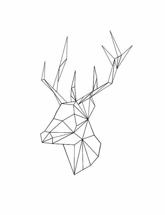 картинки с оленями для срисовки 020