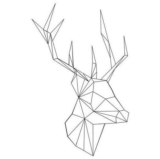 картинки с оленями для срисовки 021