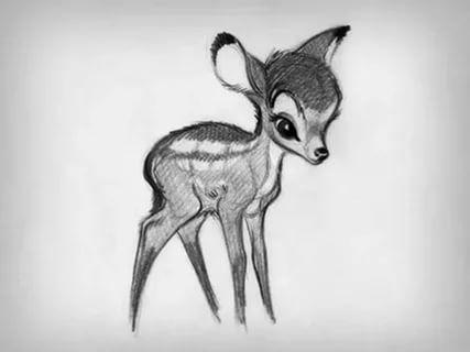картинки с оленями для срисовки 022