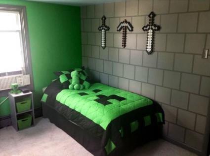комната в стиле майнкрафт 022