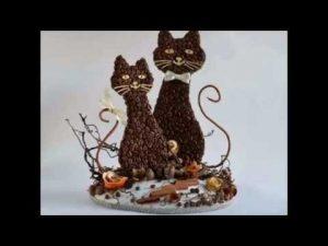 кошка из кофейных зерен своими руками 023