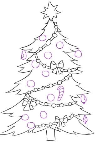 красивые елки рисунки на новый год 005