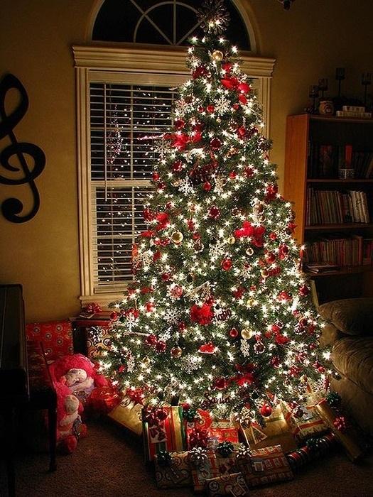 красивые елки рисунки на новый год 008