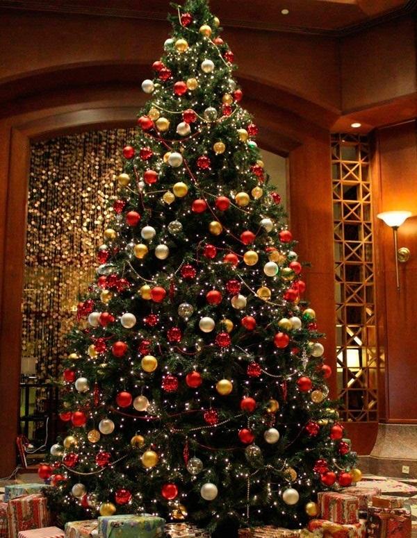 красивые елки рисунки на новый год 009