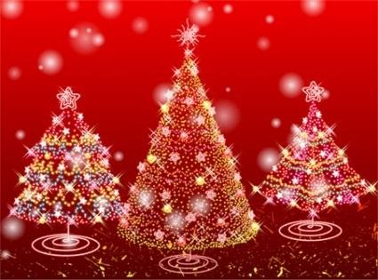 красивые елки рисунки на новый год 010