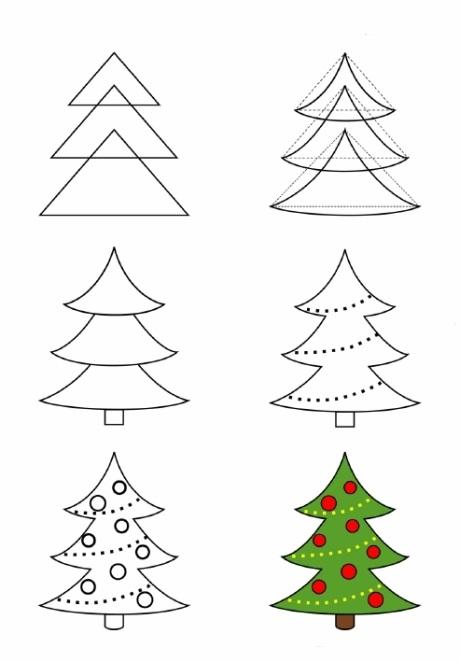 красивые елки рисунки на новый год 013