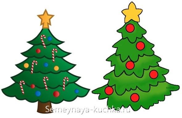 красивые елки рисунки на новый год 014