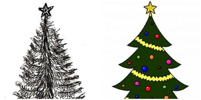красивые елки рисунки на новый год 019