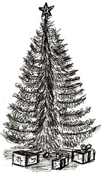 красивые елки рисунки на новый год 022