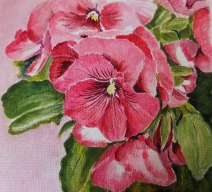 красивые цветы акварель 023
