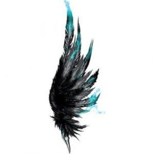 крылья тату акварель 018