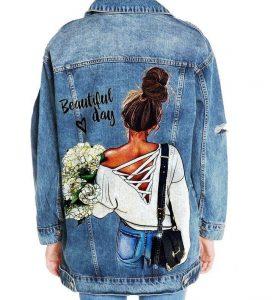 куртки с рисунком на спине 020