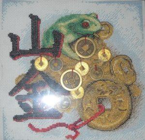 лягушка вышивка крестом 020