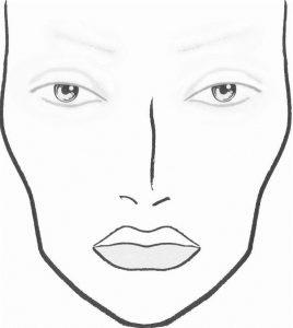 макет лица для макияжа 013