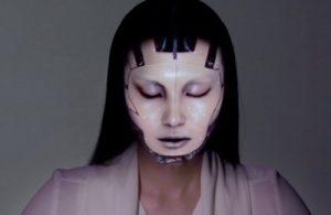 макияж робота 019