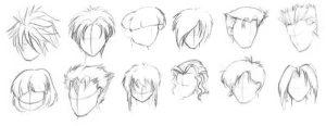 мужские волосы с аниме 022
