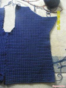 мужской вязаный пиджак крючком 023
