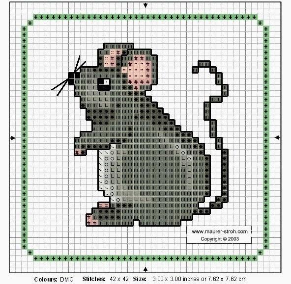 мышки схемы вышивка крестом 005