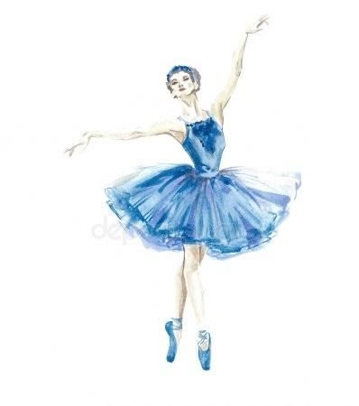 набросок карандашом балерины 001