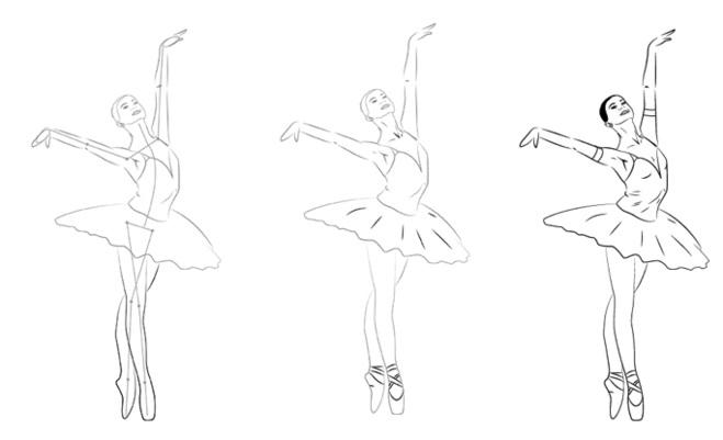 набросок карандашом балерины 003