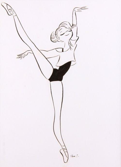 набросок карандашом балерины 004