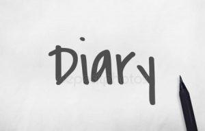 надпись diary 021