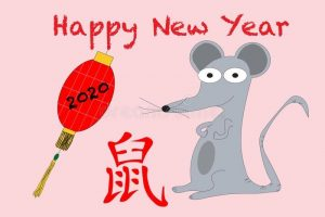 нарисованные картинки на новый год крысы 024
