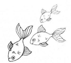 нарисованные рыбки 023
