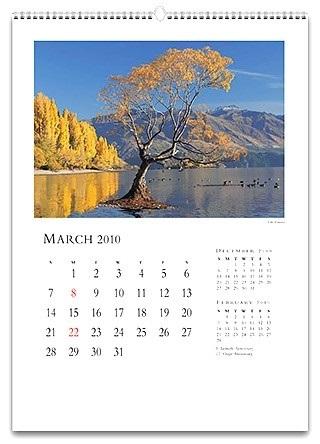 настенный красивый календарь 023