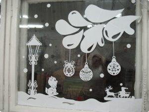 на новый год на окна картинки 018