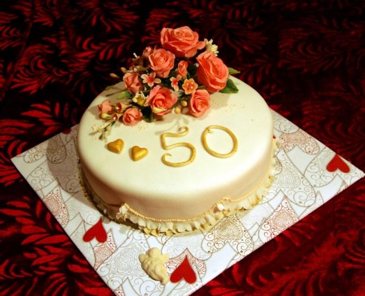 на 50 лет как украсить торт 002