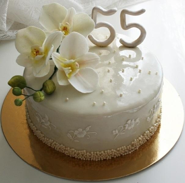 на 50 лет как украсить торт 004
