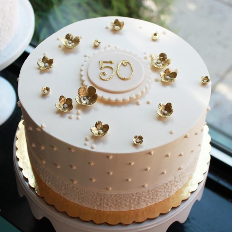 на 50 лет как украсить торт 007