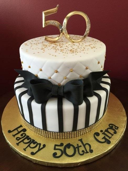 на 50 лет как украсить торт 009