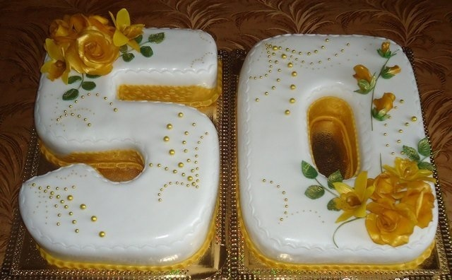 на 50 лет как украсить торт 010