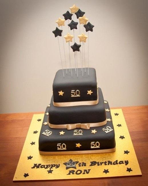 на 50 лет как украсить торт 011
