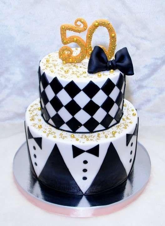 на 50 лет как украсить торт 012