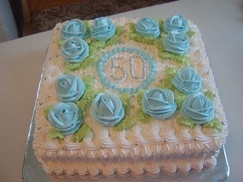 на 50 лет как украсить торт 018