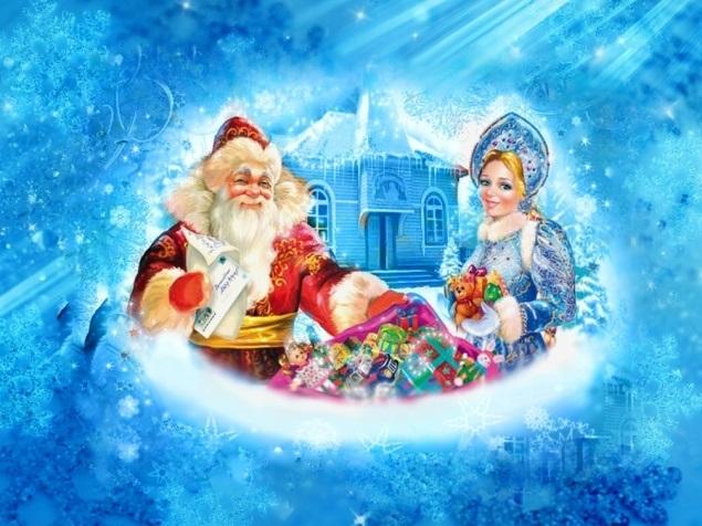 новый год картинки дед мороз и снегурочка 001