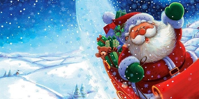 новый год картинки дед мороз и снегурочка 009