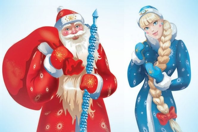 новый год картинки дед мороз и снегурочка 016