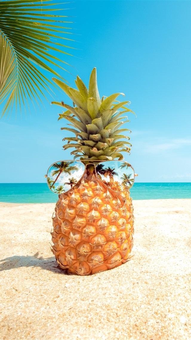 дизайнеры яркие летние картинки ананас выведший